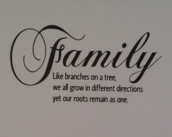 Custom Wall Cling Family Quote Repositionable Vinyl Decal