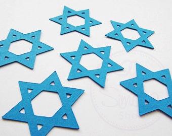 Star of David Confetti, Magen David, Confetti, Simcha, Jewish Wedding, Sheva Brochot, Bar Mitzvah, Bat Mitzvah, Hebrew, Pack (50) Large