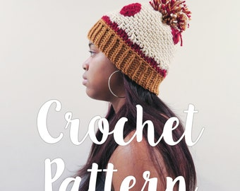 CROCHET PATTERN: Pepperoni Pizza Hat