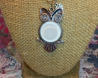 White Owl Pendant