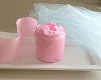 Pink Sugar Whipped Sugar Scrub/Cotton Candy/Whipped Soap Based/Hand Whipped