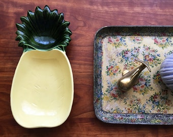 Mid Century Pineapple Relish Dish