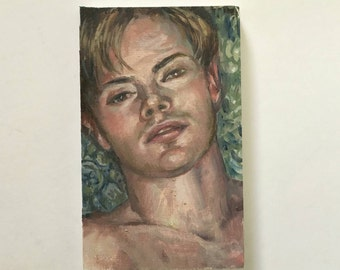 Kevin - a small original oil study
