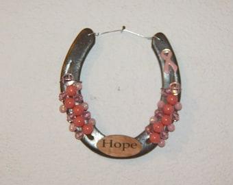 Breast Cancer Pink Ribbon Horseshoe