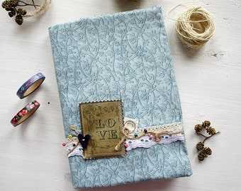 Rustic Notebook, Fabric Covered Notebook