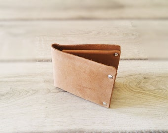 Leather Wallet, Men's Leather Wallet, Gift For Him, Leather Bifold, Sleek Wallet, Slim Wallet, Minimal Wallet