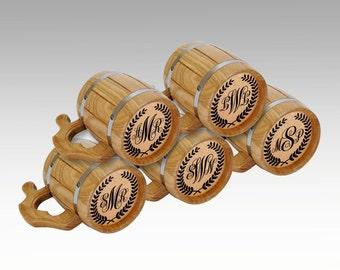 5 Groomsmen Beer Mugs, Custom Groomsmen Beer Mugs, Etched Groomsmen Mugs, Usher Gift, Grooms Gift,Custom Initials Weddig gift, Monogram Mugs