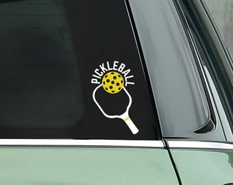 Pickleball Paddle Decal - Vinyl Sticker - Bumper Sticker - Pickleball Gift - Computer Sticker