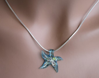 Starfish Necklace Beach Bride Necklace Something Blue Necklace Bridesmaid Necklace Bridesmaid Gifts