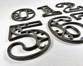House Numbers, Iron House Numbers, House Numbers Metal, House Numbers Rustic, Mailbox Numbers, Table Numbers, Wedding Table Numbers, Outdoor