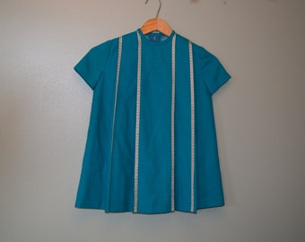 Turquoise 1960's shirt