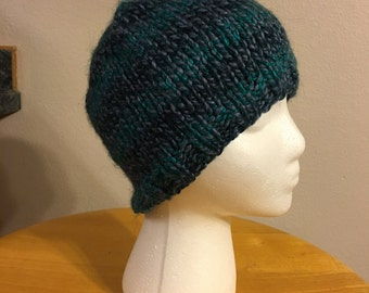 Blue and Teal Beanie