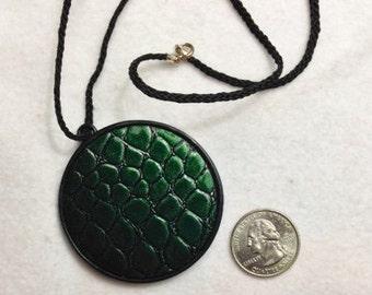 Green Crocodile Necklace