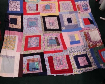 Hand sewn vintage quilt top from Georgia