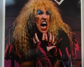 Dee Snider 8x10 Lithograph w Bio Twisted Sister 1985