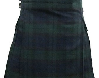 BlackWatch tartan utility kilt design for uniex adult