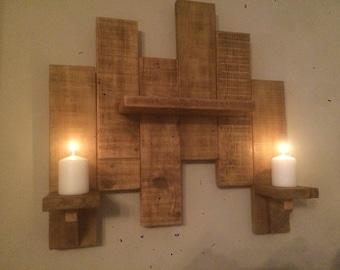 Handmade Candle Holders/ Shelf