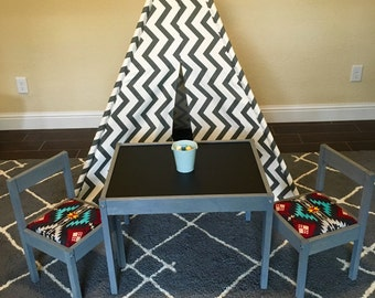 Childrens chalkboard table and chairs