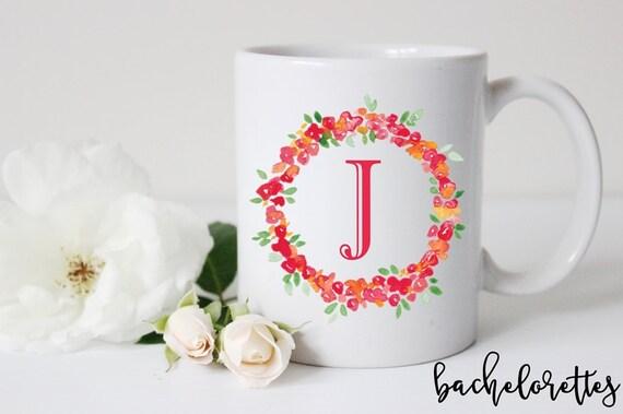 Monogram Wreath Mug