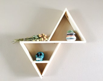 Geometric triangle shelf