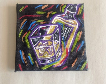 Tiny Whiskey Painting Magnet