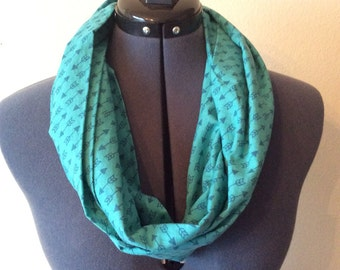 Blue Arrow Infinity Scarf