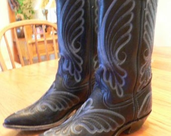 Western Boots - Womens Blue (Code West)