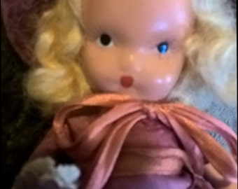 Vintage bisque Nancy Ann storybook doll Autumn