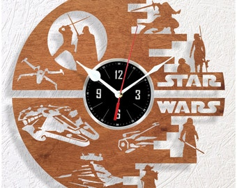 Wooden wall clock STAR WARS