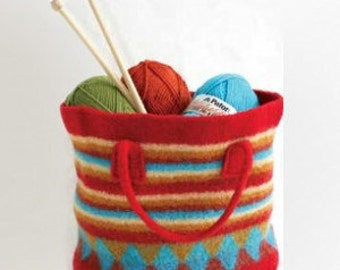 Colorful Felted Bag-Pattern-Intermediate
