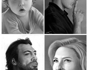 Black and white custom commission