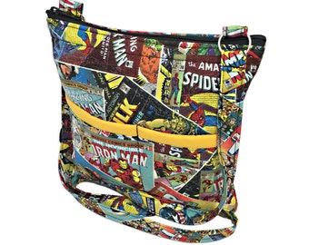 Marvel Crossbody Bag // Sling Bag // Crossbody Purse // Shoulder Bag // Hipster // Avengers