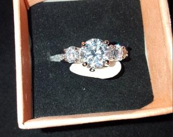 10kt white gold engagement ring