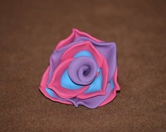 Multi Color Polymer Clay Rose Charm