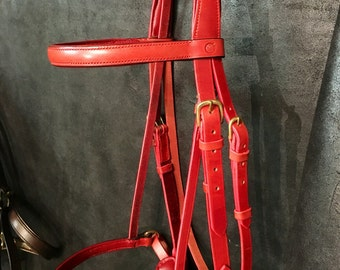 Bridon / net size horse Victoria leather hand-stitched