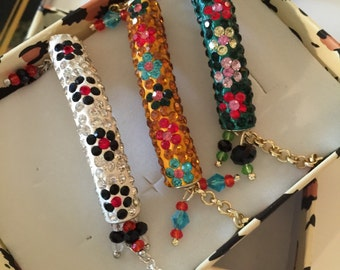 Bracelets handmade with swarovski crystals