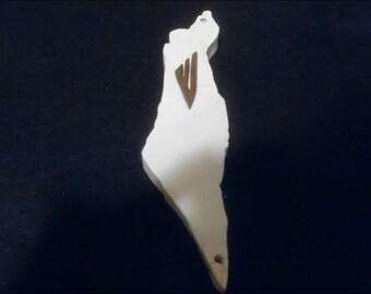 hand carved Israel shaped mezuzah case