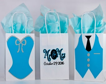Qty 12. Wedding-Wedding Gift Bags-Bridesmaids Gift Bags-Groomsmen Gifts Bags-Wedding Party Favors-Bridesmaid-Bridal Party Gift Bag-Gift Bag.