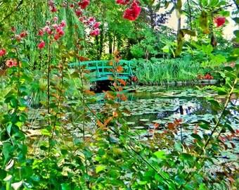 Monet Bridge, Color photography, France landscape,Landscape photography, Nature photography, Fine art  photography