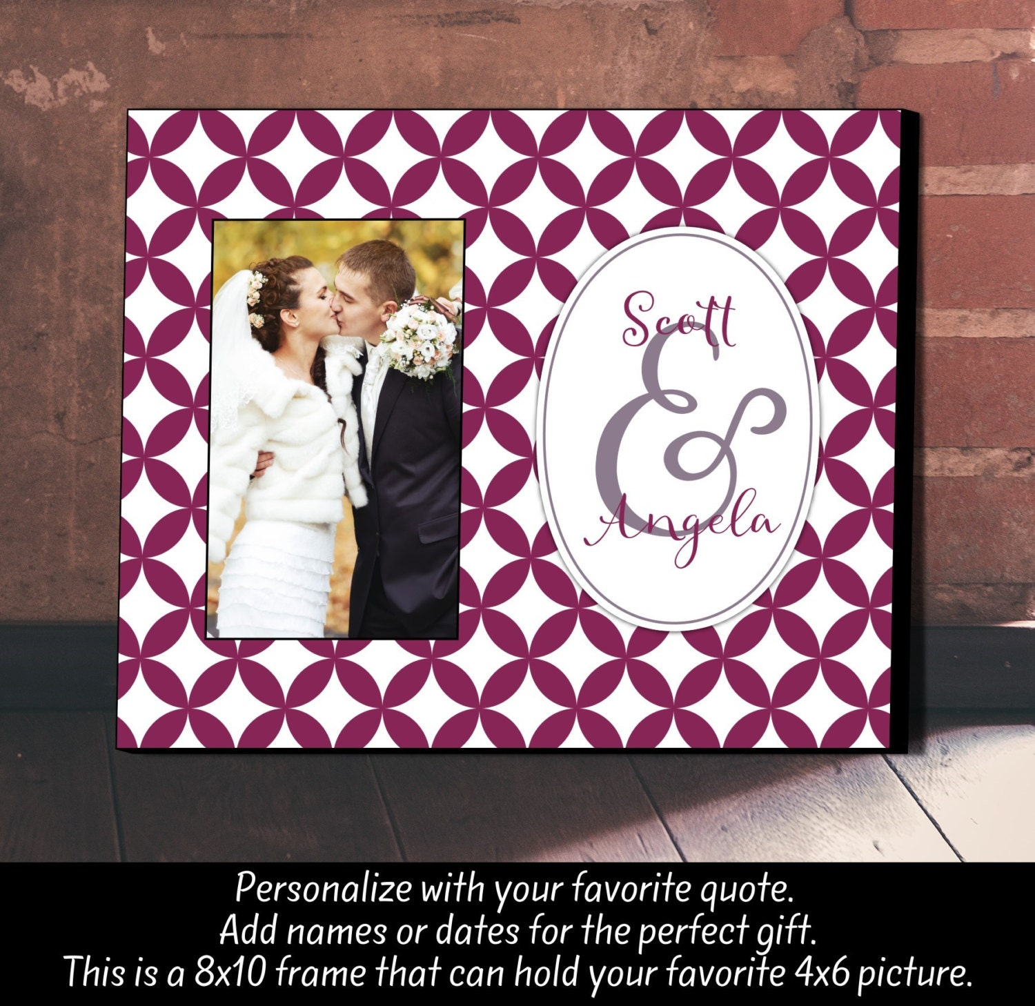 Wedding Gift Personalized Picture Frame : Personalized Picture Frame Wedding Gift Anniversary Gift