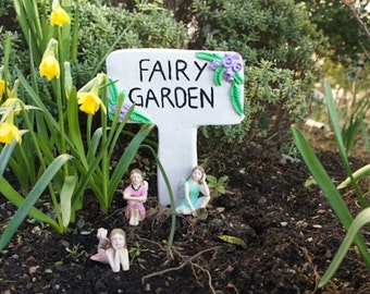 FAIRY GARDEN Sign - Made from Resin - Suitable for Outside - Brand New