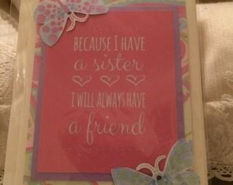 Handmade card for sister