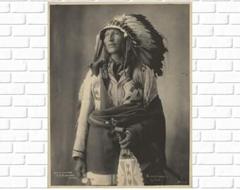 Blackhorn - Sioux - Frank Rinehart - 1899 - Photo - Print - Photography - Vintage - Native American - Photograph - Antique - History