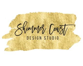 Gold Logo, Business Logo, Blog Logo, Pre-made Logo