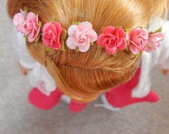 American Girl or Other 18 Inch Doll flower Crown- Perfect for Spring!