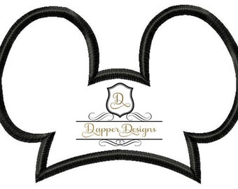 Mouse Ears Hat Machine Embroidery Applique Design Buy 2 for 4 Use Coupon Code 50OFF