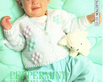 Baby Jacket, Crochet Pattern. PDF Instant Download.