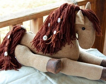 One of a Kind Western Style Stuffed Horse