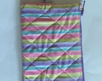 Striped Badge Holder/Change Purse