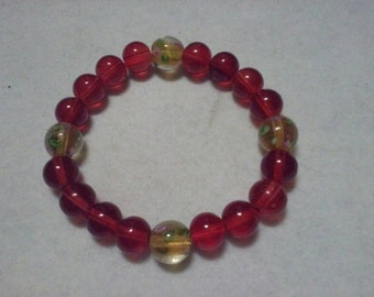 Red and Yellow Flower Bracelet